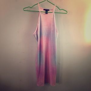 Multicolor pastel velvet dress